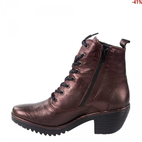 Botki Fly London WUNE 077 Idra Burgundy P501077008