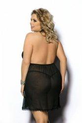 Adola black chemise XL+ (czarna halka)