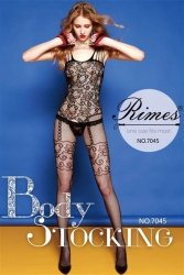 Bielizna-Rimes Bodystocking One Size No,7045 BLACK
