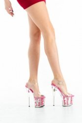 Buty- platformy z różami- fuxia 41
