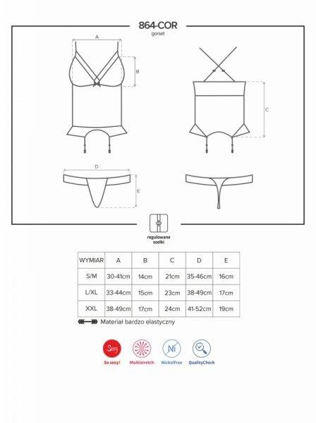 Bielizna-864-COR-1 gorset i stringi XXL