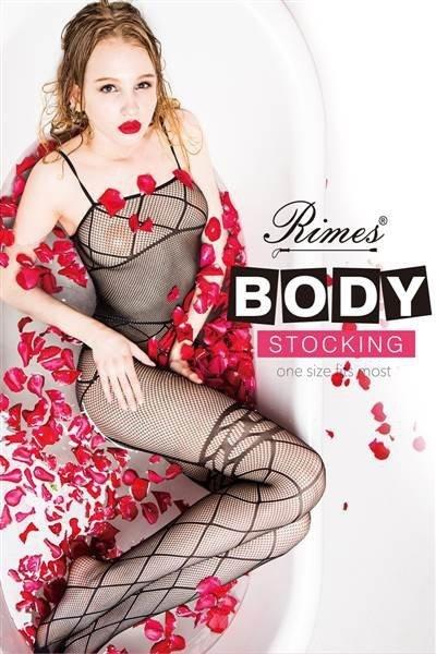 Bielizna-Rimes Bodystocking One Size No,7075 BLACK