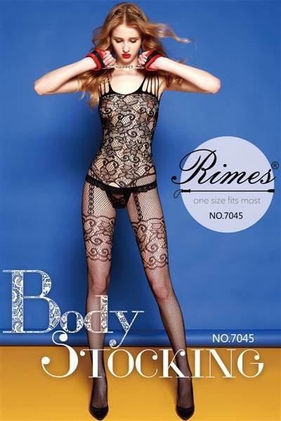 Bielizna-Rimes Bodystocking One Size No,7045 BLACK