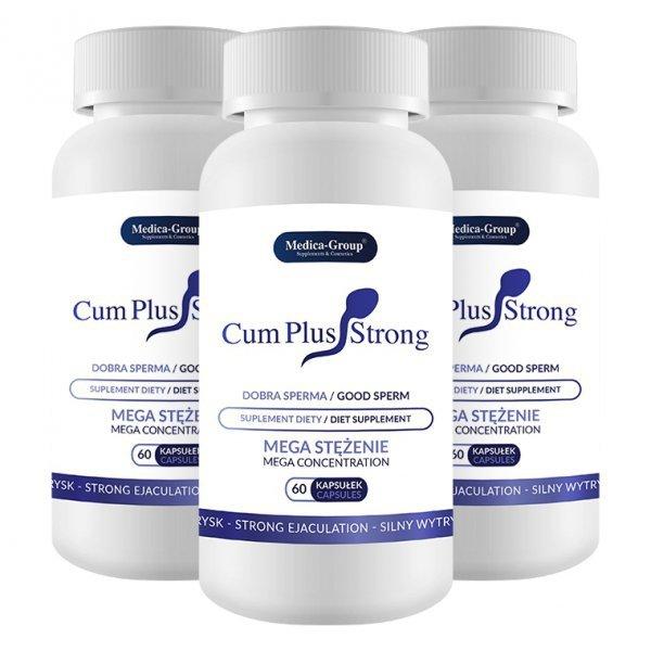 3x Cum Plus Strong - większy wytrysk