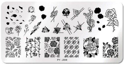 Stamping Schablone PY - J008