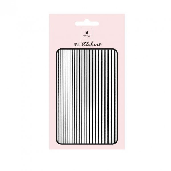 Nail Stickers Elastic Stripe BLACK - Mistero Milano
