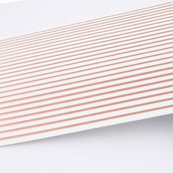 Nail Stickers Elastic Stripe ROSE GOLD - Mistero Milano