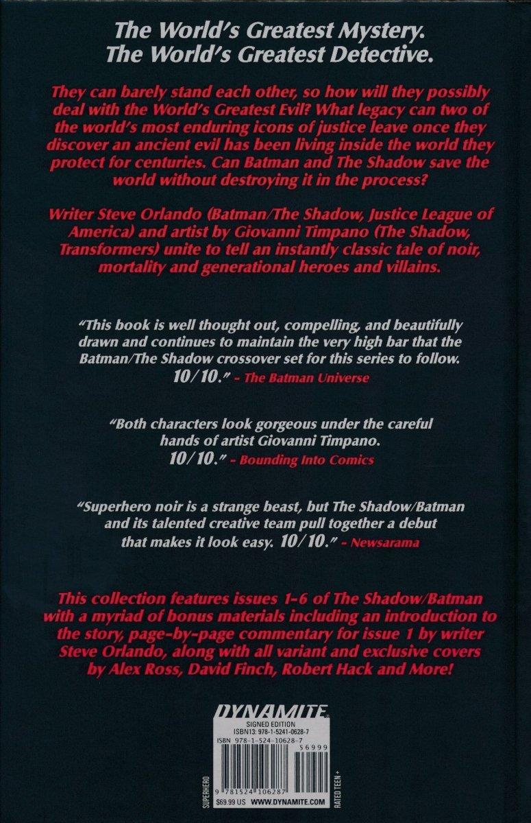SHADOW BATMAN HC ORLANDO SGN ED (Oferta ekspozycyjna)