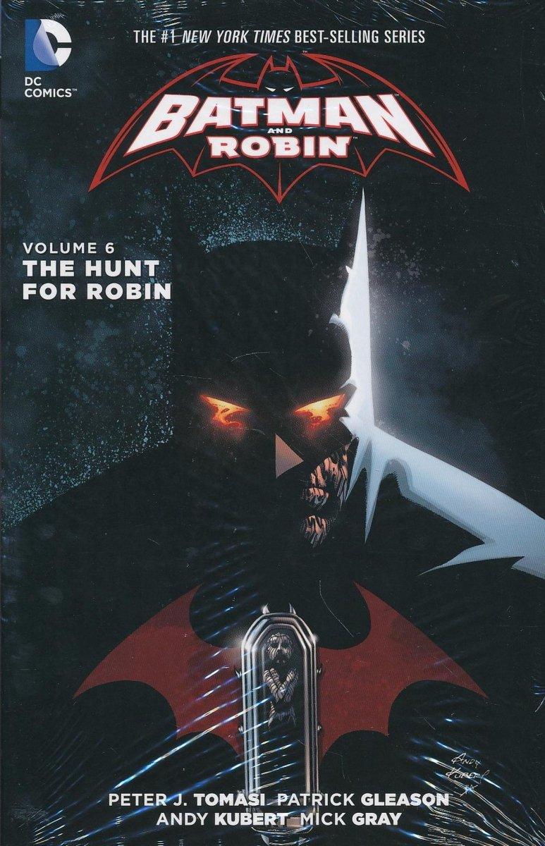 BATMAN AND ROBIN VOL 06 THE HUNT FOR ROBIN HC (Oferta ekspozycyjna)