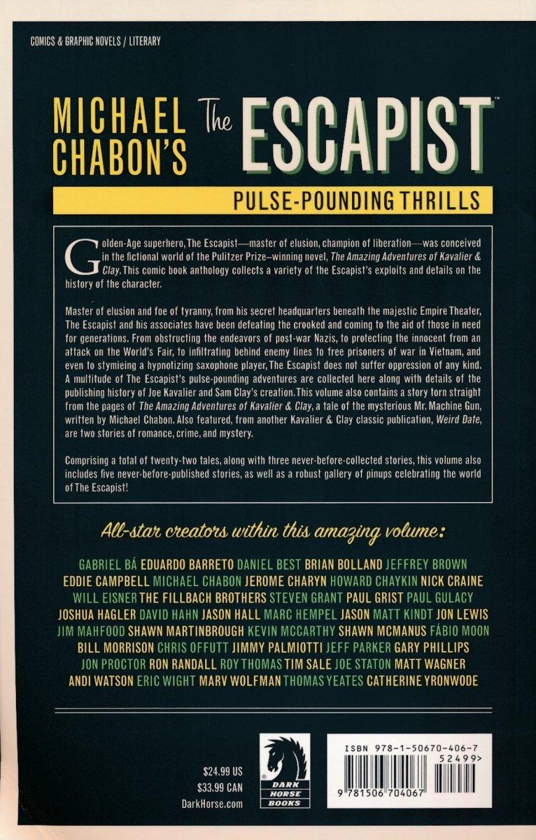 MICHAEL CHABON ESCAPIST PULSE POUNDING THRILLS TP (Oferta ekspozycyjna)