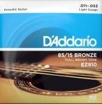 Struny D'ADDARIO 85/15 Bronze Wound EZ910 (11-52)