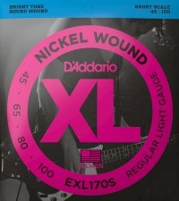 Struny D'ADDARIO XL Nickel Wound EXL170S (45-100)