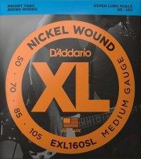 Struny D'ADDARIO Nickel EXL160SL (50-105)