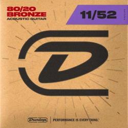 DUNLOP 80/20 Bronze Acoustic Strings (11-52)