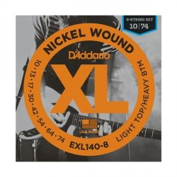 Struny D'ADDARIO XL Nickel EXL140-8 (10-74) 8str.