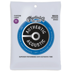 Struny do akustyka MARTIN Authentic MA535 (11-52)