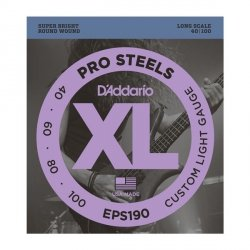 Struny D'ADDARIO ProSteels EPS190 (40-100)