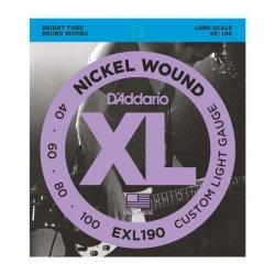 Struny D'ADDARIO XL Nickel Wound EXL190 (40-100)
