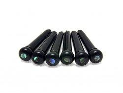 Plastikowe kołki mostka HOSCO (czarne z abalone)