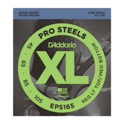 Struny D'ADDARIO ProSteels EPS165 (45-105)