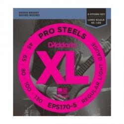 Struny D'ADDARIO ProSteels EPS170-5 (45-130) 5str.