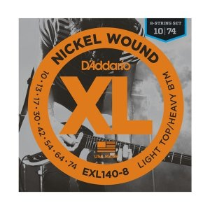 Struny D'ADDARIO XL Nickel EXL140-8 (10-74) 8str.