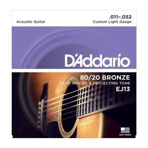 Struny D'ADDARIO 80/20 Bronze Wound EJ13 (11-52)