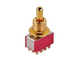 Przełącznik 4PDT on-on-on maxi MEC 80019 (GD)