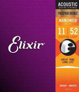 Struny ELIXIR NanoWeb Phosphor Bronze (11-52)