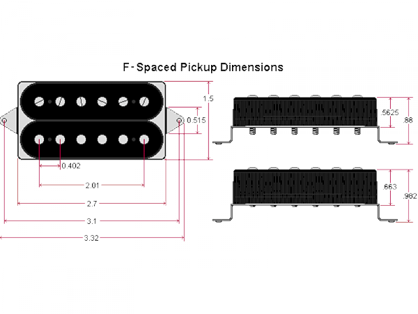 DIMARZIO DP244FBK Dominion F-spaced (BK, neck)