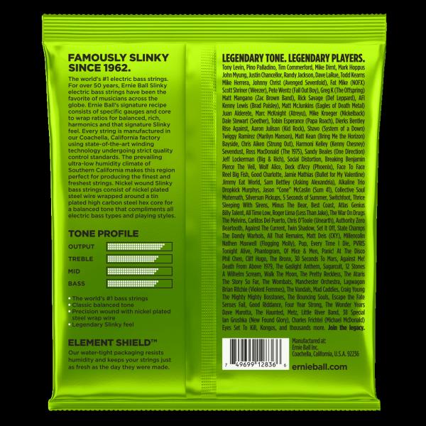 Struny ERNIE BALL 2836 Bass Slinky (45-130) 5str