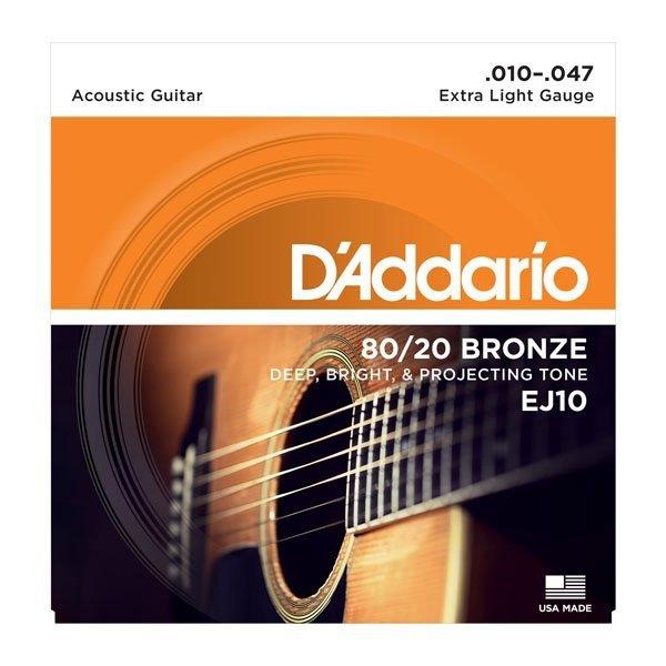 Struny do akustyka D'ADDARIO EJ10 (10-47)