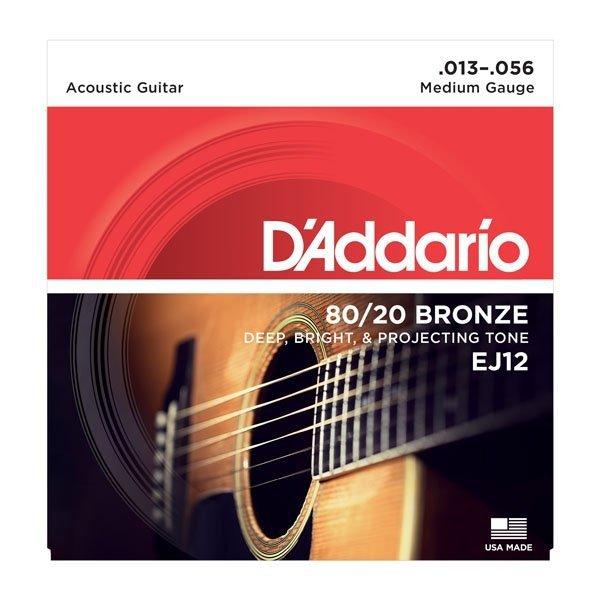 Struny do akustyka D'ADDARIO EJ12 (13-56)