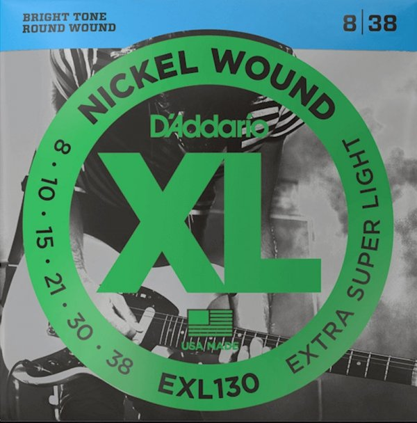 Struny D'ADDARIO XL Nickel Wound EXL130 (08-38)