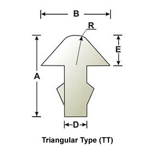 Progi SINTOMS 2,8mm/R125 TRIANGULAR (EH)