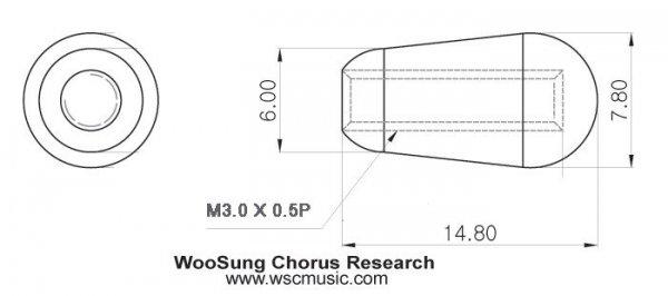 Metryczna nakładka przełącznika - Les Paul (BK)
