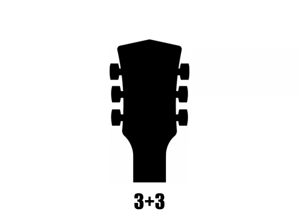 Klucze do gitary GOTOH SE770-06M (GD,3+3)