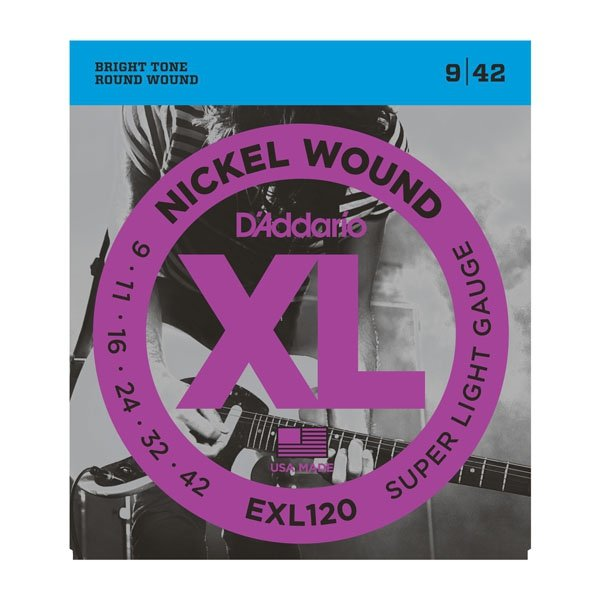 Struny D'ADDARIO XL Nickel Wound EXL120+ (09,5-44)