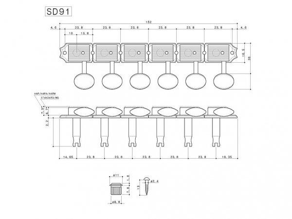 Klucze do gitary GOTOH SD91-05M (N,6L)
