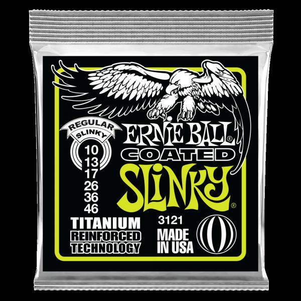 Struny ERNIE BALL 3121 Coated Titanium (10-46)
