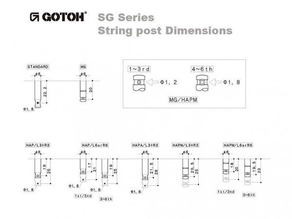 Klucze do gitary GOTOH SG381-07 (GD,6L)