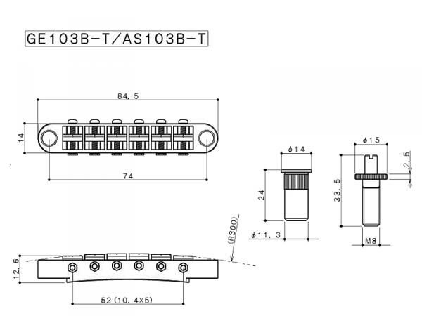 Mostek GOTOH GE103B-T (GD)