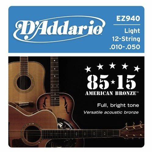 Struny do 12-ki D'ADDARIO EZ940 (10-50)