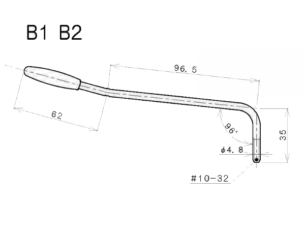 Ramię do mostków tremolo GOTOH B-1 (CR)