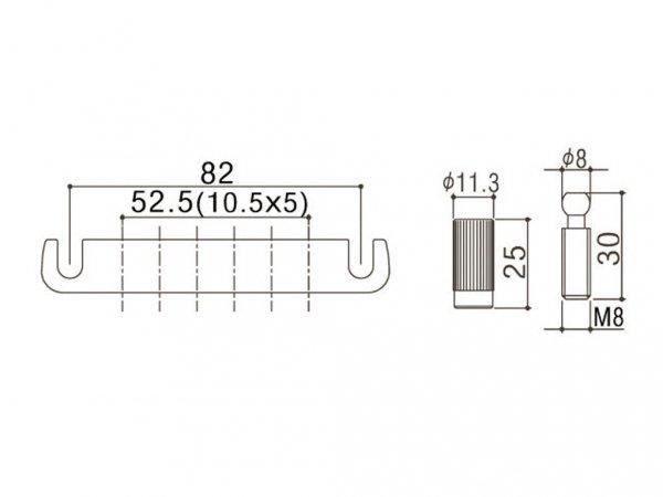 Aluminiowy zaczep strun GOTOH 510FA (CK)
