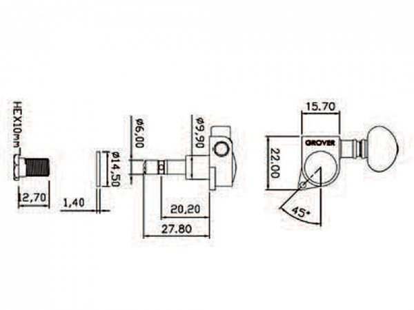 Klucze blokowane GROVER Mini Roto 406 (BC,6L)