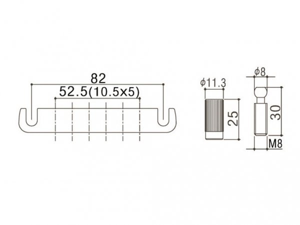 Aluminiowy zaczep strun GOTOH 510FA (GD)