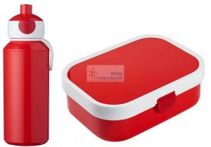 Zestaw bento lunchbox i bidon 400ml czerwony Mepal 3.0