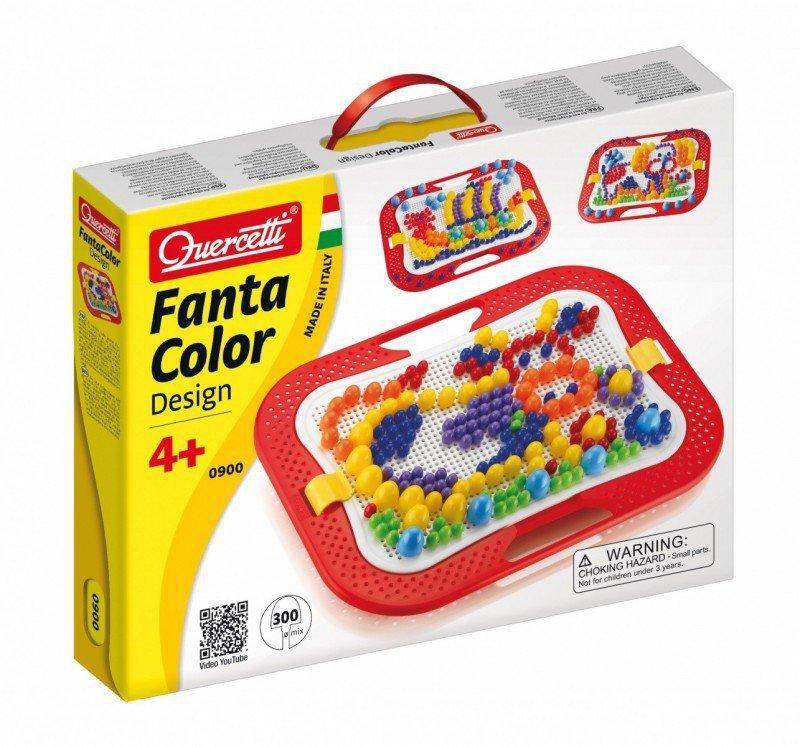 Quercetti Fantacolor Desing Mozaika 300 kołeczków