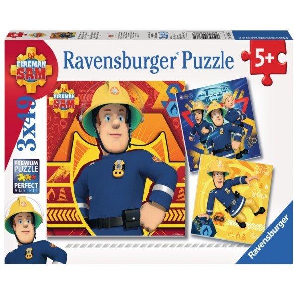 Ravensburger 3X49 ELEMENTÓW Strażak Sam